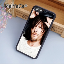 MaiYaCa Custom Walking Dead Norman Reedus Soft Rubber cell phone Case Cover For iPhone 6 6S phone cover shell(China)