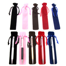20pcs/lot Cute 2 in 1 Crystal Stylus Pen Touch Pen velvet bag red white black blue coffee pink bag(China)