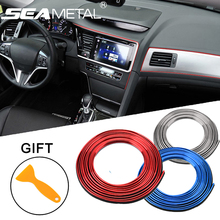 5M Car Interior Mouldings Trims Decoration Line Strips Car-styling Door Dashboard Air Outlet Decorative Sticker Auto Accessories(China)