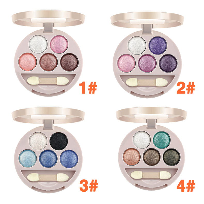 Dual-use 5 Colors Eye Shadow Wet&Dry Eye Shadow For Lady HB88(China (Mainland))