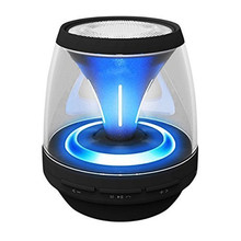 ihens5 PT8 Vivid Jar Portable Bluetooth Speaker 12 LED Lights Mini Wireless Speaker Loudspeakers with MIC FM Radio For PC Phones(China)