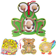 Kids Wooden Animal Puzzle Toys Children Early Educational Learning Toys Intellectual Game Puzzles Baby Brain Teaser Toy Gift