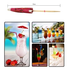 50pcs/lot 10cm Creative Mini Paper Umbrellas Toothpick Cocktail Garland Cake Decoration Drinks Event Party Wedding Supplies
