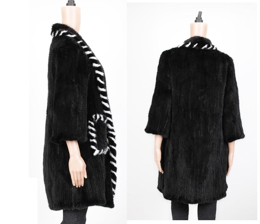 women luxury genuine real knitted mink fur shawls (17)