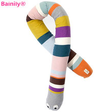 [Bainily] 115cm Giant Newborn Baby Toys Cute Snake Plush Sleeping Pillows Infant Appease Dolls Kawaii Stuffed Brinque Snake Toys(China)