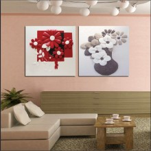 2 Panel Modern  Painting Home Decorative Art Picture Paint on Canvas Prints Relief type paintings chrysanthemum, and daffodils