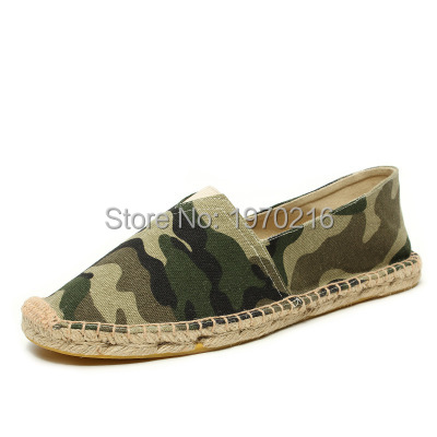 Cool yet Functional Spring Camouflage Canvas Espadrilles Shoes Men Loafers,Brand Slip-on Men Linen breathable Casual shoes<br><br>Aliexpress