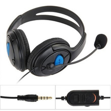 Adjustable 3.5mm Online Live Game Gaming Chat Headset with Microphone & Volume Control for PS4 Controller PS4 Wired Headphone(China)