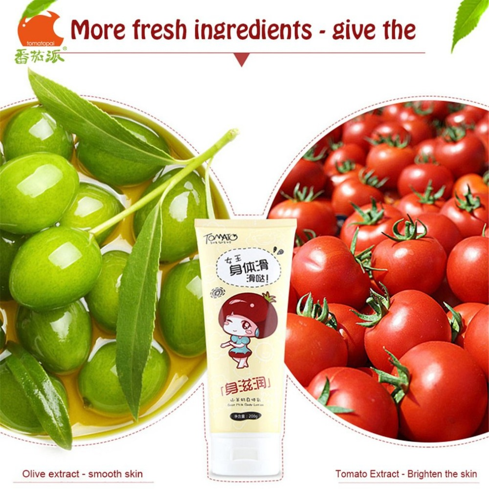 TOMATO PIE 0ML Goat Milk Body Cream Skin Care Moisturizing Whitening Exfoliating Skin Care Unisex Body Cream 13