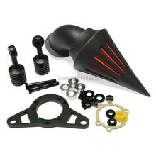 Motorcycle Black Spike Intake Air Cleaner Filter Kit CarbCover Intake Filter Fit ForHarley Dyna Softail Cross Bones Dyna Touring