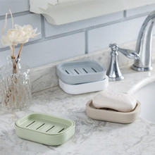 Bathroom Soap Dish Case Holder Plastic Portable Soap Holder Container Dispenser Dishes Draining Box Bathroom Hardware