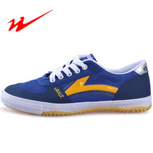 Double star table tennis shoes hombres mujeres canvas lace up table tennis shoes zapatillas ligero cómodo sport shoes sneaker