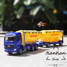 siku 1:87 Benz truck trailer Tanker Alloy car model silo power Children's toys ornaments Children like the gift