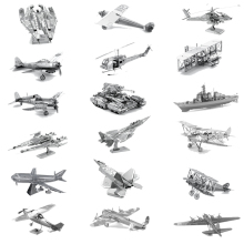 DIY 3D Metal Puzzle Airplane Tank Tarship Adult Military Model Assemble Jigsaw Children's Education Toys Kids Best Gift