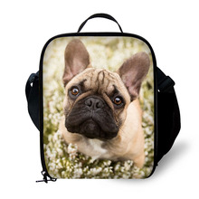 Brand lunch bag Animal pet dog print lunch box portable freezer picnic food bag lunch bag fresh bag(China)