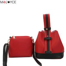 2PCS/SET Women PU Leather Shoulder Messenger Bag with Handbag Purse Office Casual Tote Bags Laides Handbags Bolsa Feminina(China)