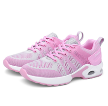 Mesh Women Mixed Colour Sneakers Fashion Casual Female Walking Sports Shoes  Breathable Leisure Lace Up Design 41d54f9a73d8