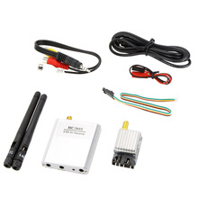 5.8G 200mW Aluminium Alloy FPV Video Audio 8 Channels AV Transmitter with RC305 High Quality Wireless Receiver Set