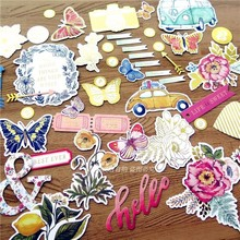 50pcs Colorful Cardstock Die Cuts for Scrapbooking/Card Making/Journaling Project DIY