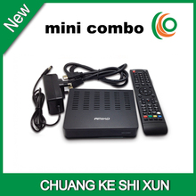 2015 hot selling Amiko mini hd combo receiver with twin tuner,support cccam card sharing and wifi
