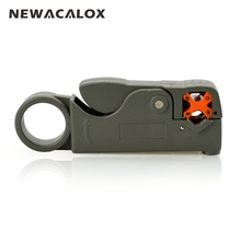 NEWACALOX Coaxial Cable Wire Stripper Electric Automatic Plier RG58 59 62 Adjustable Automatic Coax RG6 Stripping 2 Blades Tools(China)