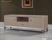 living room home furniture TV stands modern style for leather surface and decorated small carbinet TV cabinet(China)