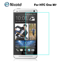 For HTC One M7 Tempered Glass Original 9H 2.5D Protective Film M 7 801S 801E 801N 801D 802T 802D 802W Dual Sim Screen Protector(China)