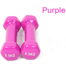Buy plastic dip multicolour dumbbell child home fitness sports equipment wholesale free kylin sport for $20.13 in AliExpress store