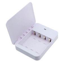 Mini Portable White Color Battery Emergency Bank Charger 4xAA USB Power Interface For iPhone6 Samsung White(China)