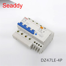 DZ47LE 4P 60A D type 400V~ 50HZ/60HZ Residual current Circuit breaker with over and Leakage current protection RCBO(China)