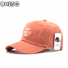 BHESD 2017 Letter Embroidery Baseball Cap Female Snapback Hat Women Orange Cotton Dad Hat Kepka Casquette Bone Gorros JY-068N(China)