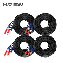 H.View CCTV Cable 30M/40M/20M BNC & DC Plug Video Power Cable for Wired AHD Camera and DVR Video Surveillance System Accessories(China)