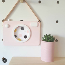 Baby Kids Cute Wood Camera Toys Children Room Wall Decoration Fashion Safe Natural Toys Birthday Christmas Gift 20x14CM