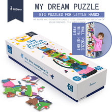 Mideer 75pcs 170x21.5cm Super Long Theme Floor Puzzle Paper Puzzles for kids My Dream Puzzle Education Toys for Children(China)