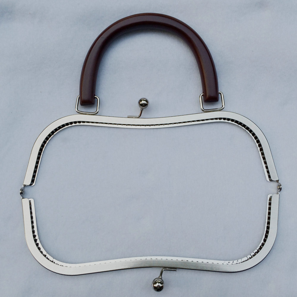 silver metal clasp for handbag