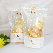 20pcs/set Sweet heart candy bags 24*13cm Cookie Gift box bags Xmas decoration Pouch festive  Party supplies Wedding event-B