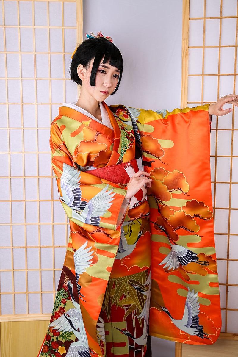 Traditional Yukata Japanese Haori Kimono with Obi Dramaturgic Theatrical Play Ro