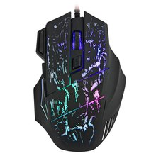 New 3200DPI 7 Buttons Color Changing LED Optical USB Wired Mouse Gamer Mice Gaming Mouse For Pro Gamer Laptop Computer mouses