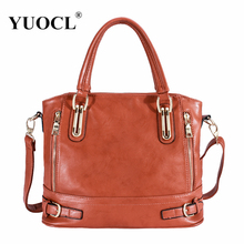 Hot sale 2017 Fashion Designer Brand Women Pu Leather Handbags ladies Shoulder bags tote Bag female Retro Vintage Messenger Bag