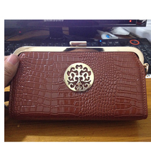 New 2017 High Quality PU Leather Long Vintage  Women Wallets Designer Brand Clutch Purse Crocodile Wallet Female Card Holder