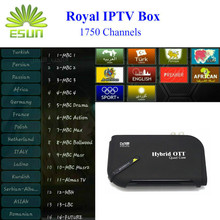 Andriod Satellite TV Receiver With 1 Year Royal IPTV 1730+livetv Arabic Europe IPTV Support BissKey Cccam Newcam Youtube DVBS2