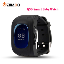 Lemado GPS Tracker Watch OLED Q50 for Kids SOS Emergency Anti Lost GSM Smart Phone Setracker APP for Android IOS phone(China)