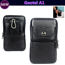Luxury Genuine Leather Carry Belt Clip Pouch Waist Purse Case Cover for Geotel A1 4.5inch Mobile Phone Bag Free Shipping