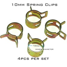 4pcs 10mm Steel Band Motorcycle Scooter ATV Fuel Line Hose Tubing Spring Clips Clamps(China)