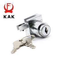 KAK 308 H Glass Lock Zinc Alloy Showcase Sliding Glass Cabinet Door Locks Furniture Hardware For 5-8mm Toughened Glass(China)