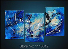 Fashion Hand Painted Modern Abstract Oil Painting Wall Art Canvas Set 3 Panel Home Decoration Art Picture For Living Room Sale