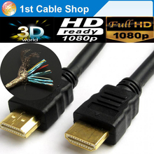 10PCS/lot High speed HDMi 1.4 cable 3M 10ft with ethernet 3D&up to 4kX2k supported triple-shielded for PS4,PS3,Wii,HDTV,STB..