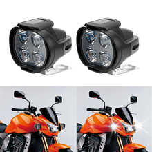 1 Pair Motorcycles Headlight LED Scooters Spotlight Working Spot Light Super Bright Motorbike Fog Lamp White 9-85V 800LM(China)