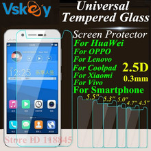 Buy VSKEY 20pcs Universal 4.5 4.7 5.0 5.3 5.5 inch Tempered Glass Huawei Xiaomi Coolpad Lenovo OPPO ASUS Sony Screen Protector for $12.00 in AliExpress store