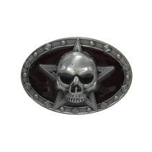 Punk Cowboys Belt Buckles Metal Skull Star Logo Boy and Girl Waistband With Good Plating Women and Mens Belt Buckle Designer
